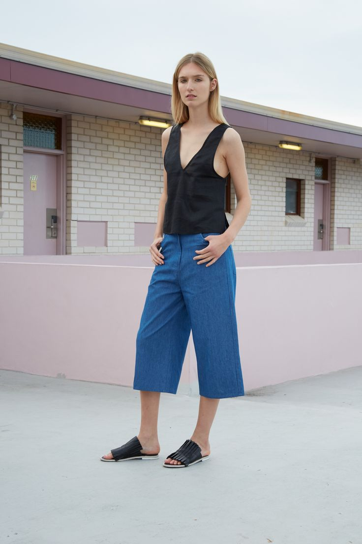 THIRD FORM RESORT 16 COLLECTION   FREE FALL PANT #thirdform #fashion #streetstyle #minimalism #chic #trend #pant #denim
