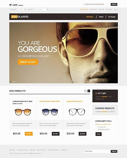 Website Template Sunglasses store