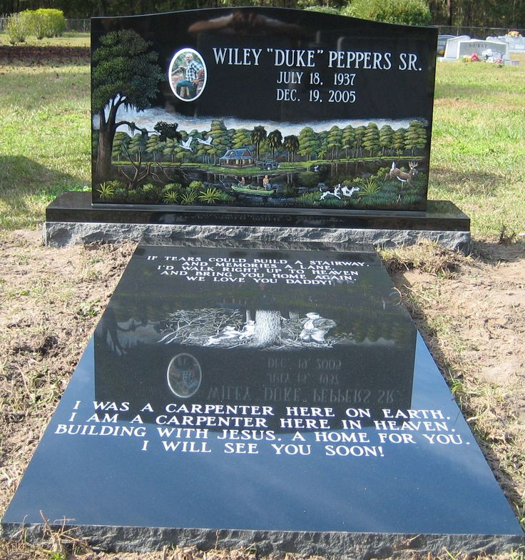 Full Color Scene On Black Granite Beautiful Cemetery Monuments Headstones Cemetery Headstones