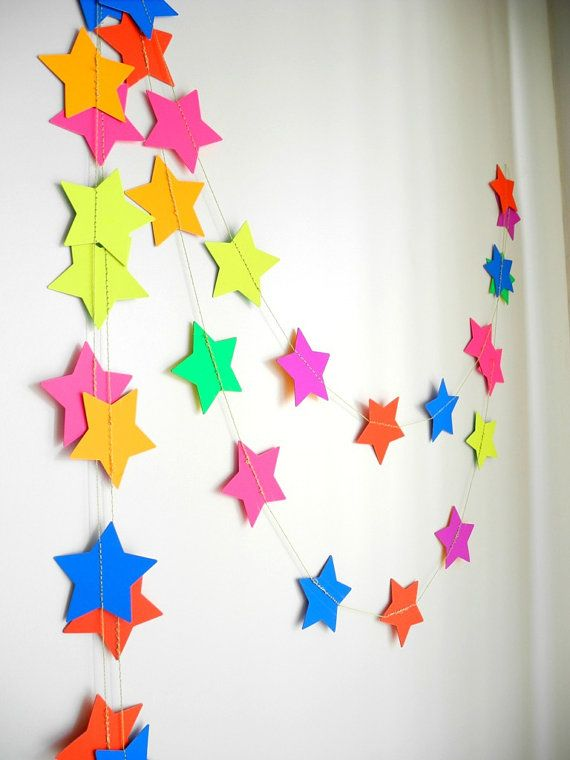 Neon Star party Garland