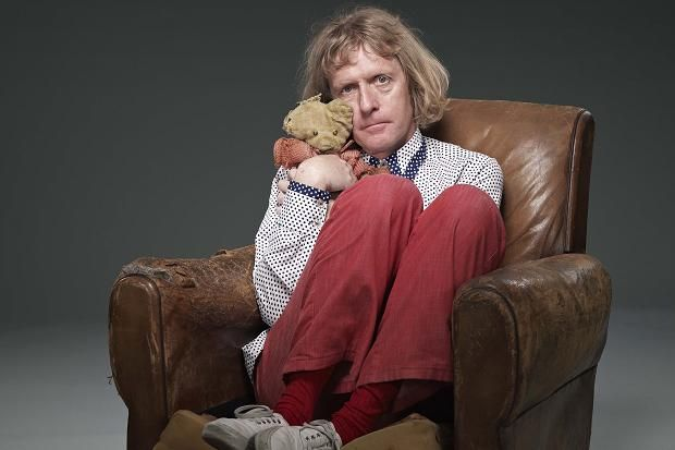 Grayson Perry with his childhood teddy bear, Alan Measles