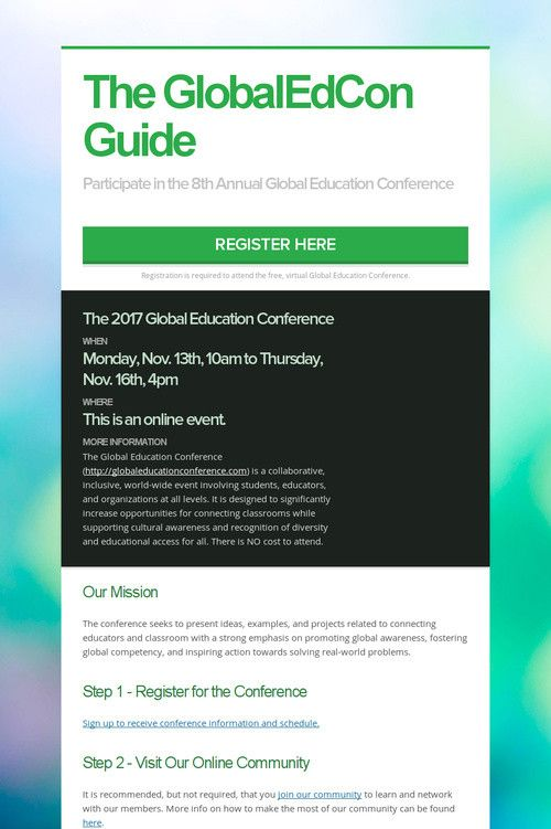 The GlobalEdCon Guide
