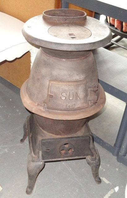 Antique Cast Iron Stove Made By The Sun Stove Co Alabama
