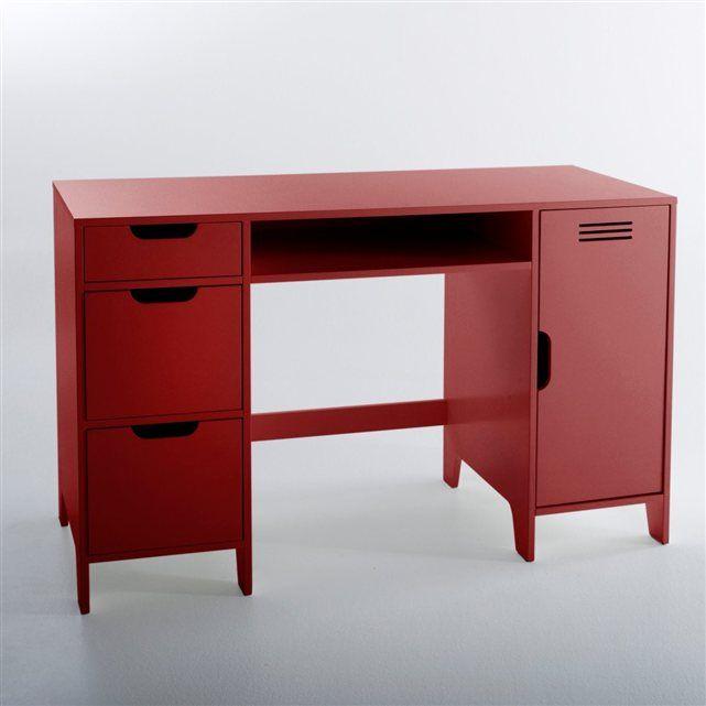 Amazing Caisson Bureau Rouge #14: Bureau Enfant Double Caisson