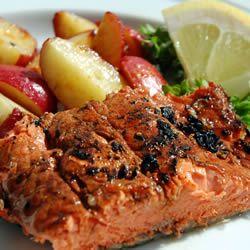 Slammin' Salmon (great over night marinade! Will add a bit more spice next time. J)
