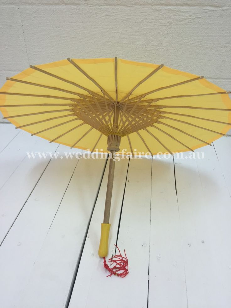 The Wedding Faire - Childs Oriental Parasol - Yellow, $9.95 (http://www.weddingfaire.com.au/childs-oriental-parasol-yellow/)