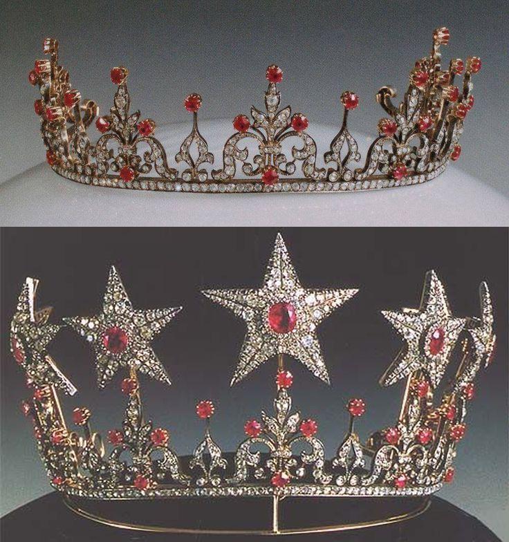 Slikovni rezultat za ruby tiara and jewelry