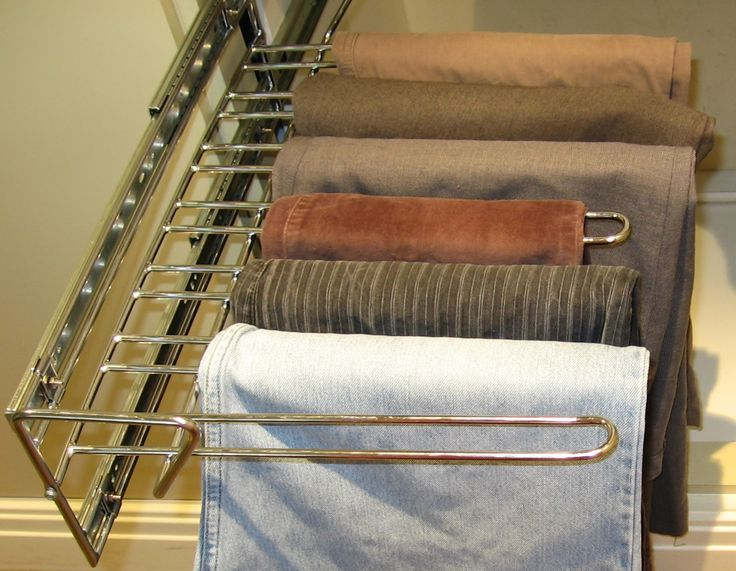 TANSEL BEDROOM/WARDROBE STORAGE: Pull Out Wire Trouser Rack