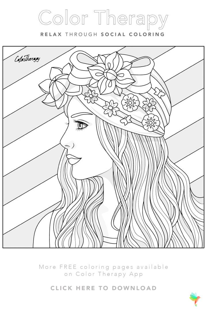 Color Therapy Gift Of The Day Free Coloring Template Coloring Book Art Color Therapy Free Coloring Pages