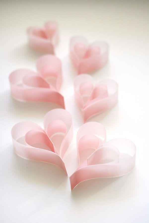 Vellum Paper hearts - so pretty!