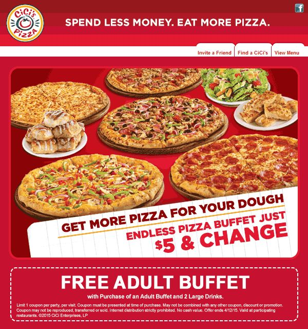 Coupons for cici's pizza restaurant