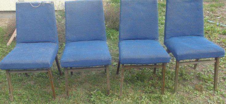 fotele proj.Hałas? PRL ,komplet tel.501198681 mazowieckie-możliwa wysyłka kurier,renowacja