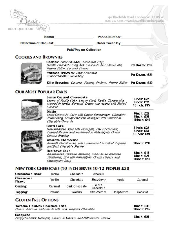 44 best Cake Shop Ideas images on Pinterest Cake bake shop, Cake - cake order forms