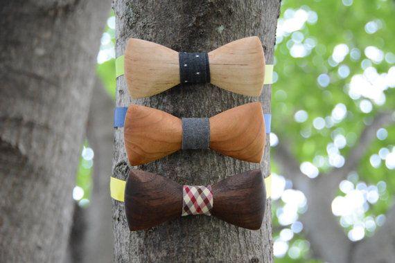 Wooden Bow Ties Domestic Hardwood by CrookedBranchStudio on Etsy #danishandmadewedding