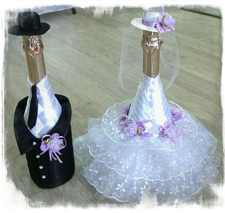свадебные бутылки жених и невеста фото - Поиск в Google