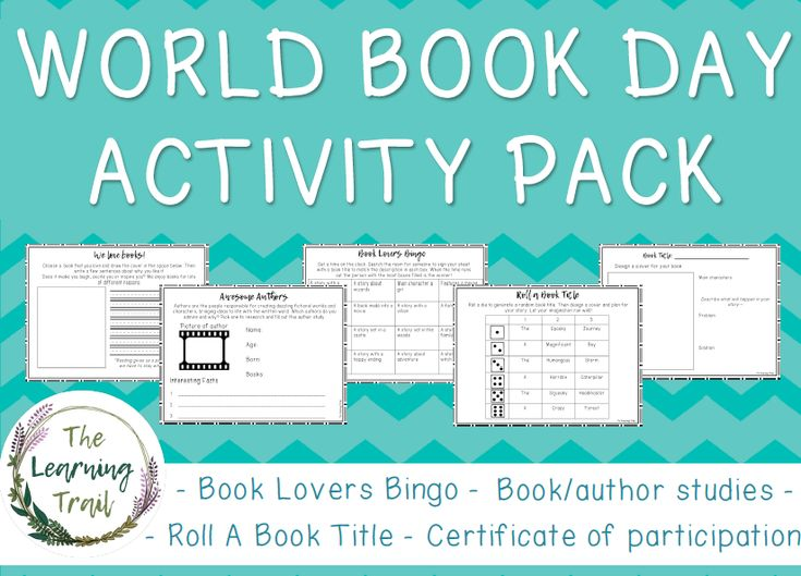A set of printable activities for use on or around World Book Day. Includes: Favourite Book activity sheet Author research template Book Lovers Bingo game Roll a Book Title activity Certificate of participation  Suitable for use in KS1 and KS2.