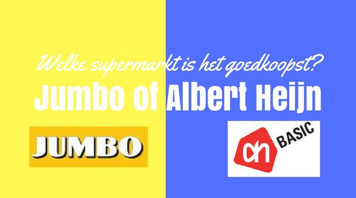 Jumbo of Albert Heijn, welke van deze twee supermarkten is er nou echt goedkoper? Ik vergeleek de prijzen en zocht het voor eens en voor altijd uit!