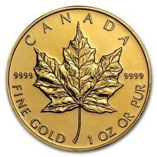 [$1262.39 save 13%] 1 oz Gold Canadian Maple Leaf Coin Random Year - SKU #87709 #LavaHot http://www.lavahotdeals.com/us/cheap/1-oz-gold-canadian-maple-leaf-coin-random/217042?utm_source=pinterest&utm_medium=rss&utm_campaign=at_lavahotdealsus