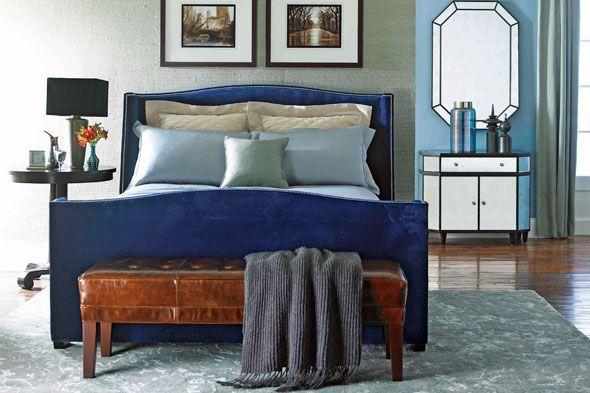 Best Velvet Navy Blue Bed Frame Jpg 590×393 P*Nth**S* 25 400 x 300