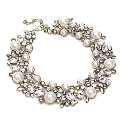 Vntage Gold Tone Chain White Simulated Pearl Crystal Beads Cluster Charm Statement Bib Necklace Jerollin http://www.amazon.com/dp/B00QRH9WYU/ref=cm_sw_r_pi_dp_xNOvwb0C1SGJ3
