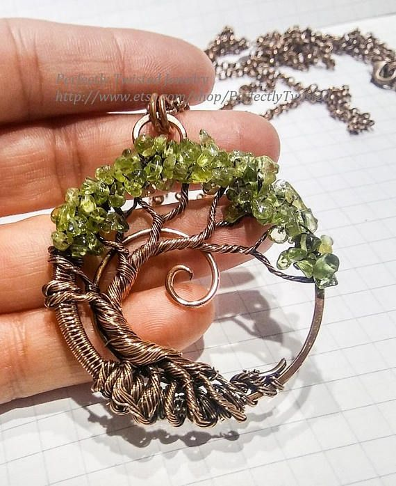 MADE TO ORDER Wire Wrapped Tree of Life Bonsai Pendant by Perfectly Twisted Jewelry