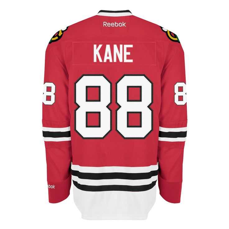 Chicago Blackhawks Mens Patrick Kane Red Home Premier Jersey by Reebok #Chicago #Blackhawks #ChicagoBlackhawks #Kane #Kaner #PatrickKane