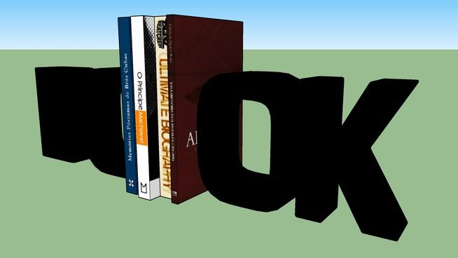 Suporte livros Book - 3D Warehouse