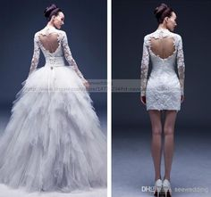 Best 25 convertible wedding dresses ideas on pinterest sexy detachable wedding dresses junglespirit Image collections