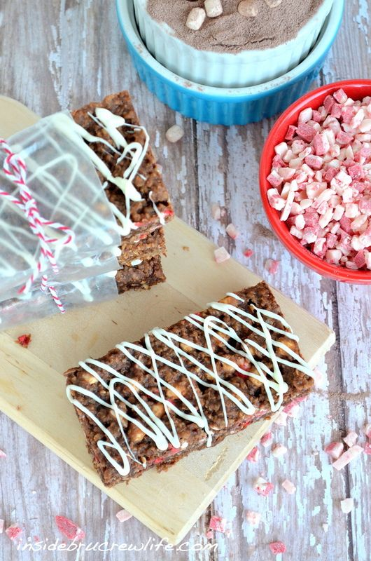 Peppermint Hot Chocolate Granola Bars or Caramel Apple or  No Bake M or how about Caramel Oatmeal Granola Bars...must try these!