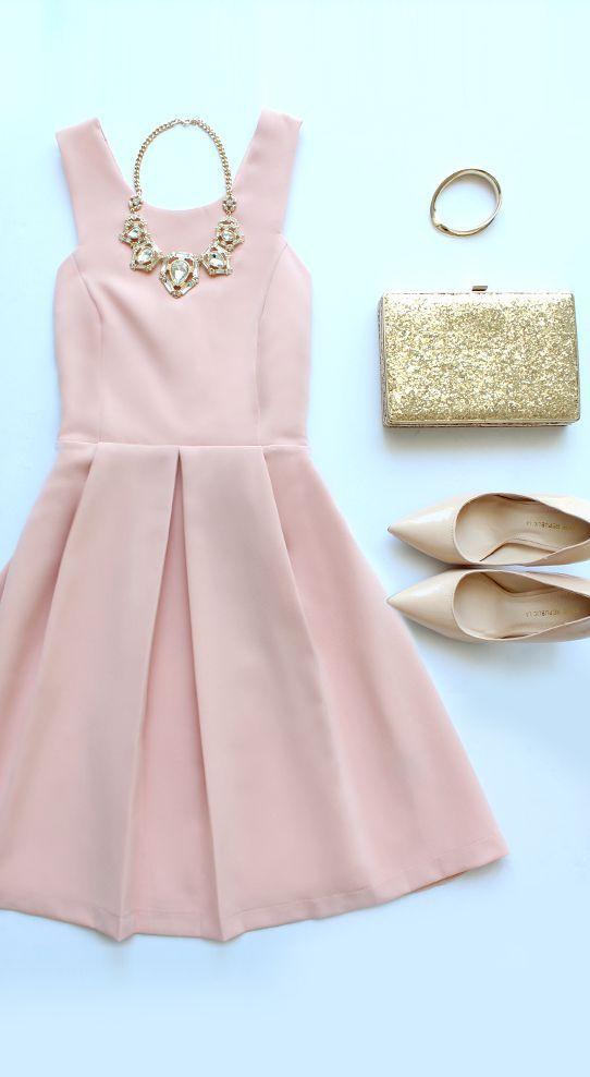 Refined and Dandy Blush Sleeveless Dress