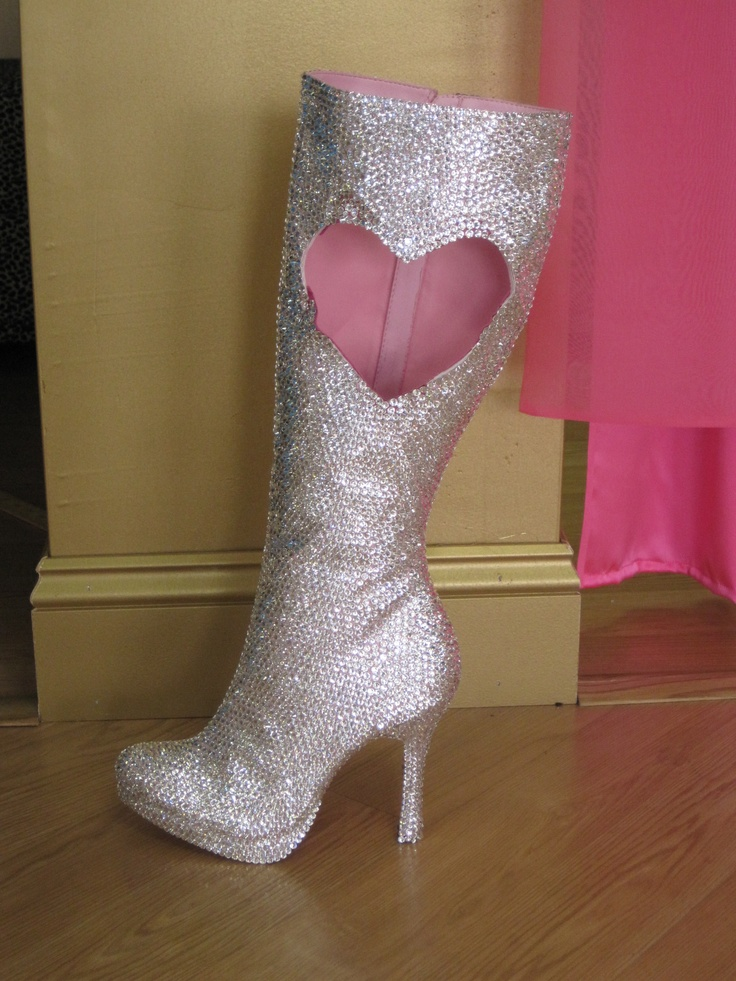Crystal-packed boot by SONDRA CELLI