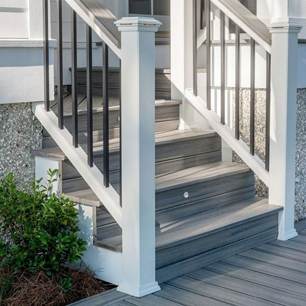 Decking Image Gallery In 2020 Deck Steps Building A Deck Front Porch Steps