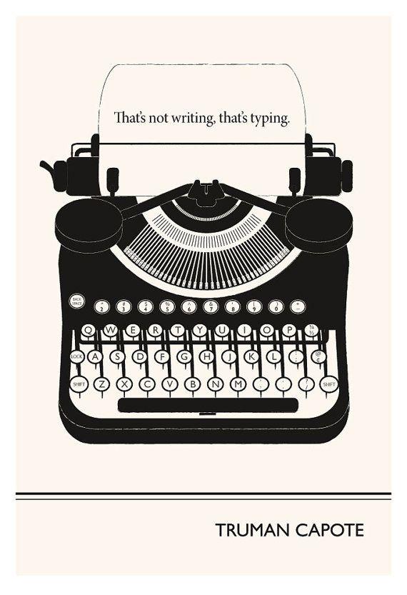 Adverve | Typing - Truman Capote