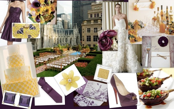 eggplant and marigold wedding palette wedding ideas