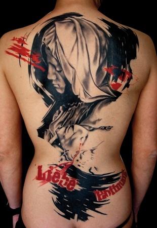 Trash Polka Tattoo by Volko Merschky & Simone Pfaff, Buena Vista Tattoo Club, Germany