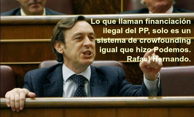 Hernando equipara la financiación ilegal del PP al crowfounding de Podemos http://www.eldiariohoy.es/2017/05/hernando-equipara-la-financiacion-ilegal-del-pp-al-crowfounding-de-podemos.html?utm_source=_ob_share&utm_medium=_ob_twitter&utm_campaign=_ob_sharebar #Hernando #politica #corrupcion #pp #actualidad #noticias #podemos