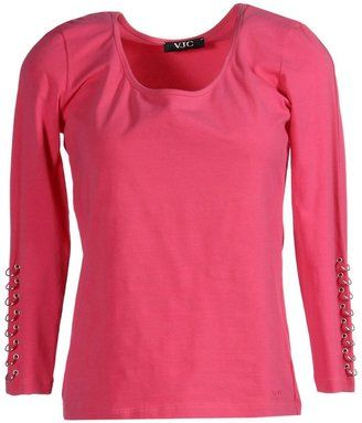 VERSACE JEANS COUTURE T-shirts - Shop for women's T-shirt - Fuchsia T-shirt