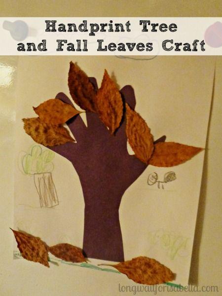 Handprint Tree and Fall Leaves Craft - Homeschool Kindergarten - Autumn Kids Craft
