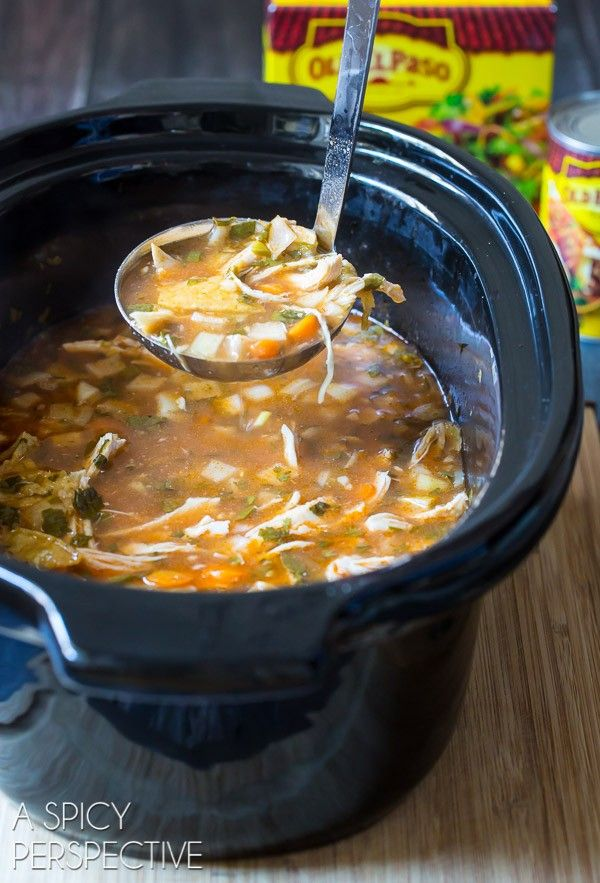 Best ever Chicken Tortilla Soup in the Slow Cooker! The easy and fresh Slow Cooker Chicken Tortilla Soup Recipe is bright, zesty, and loaded with goodness.