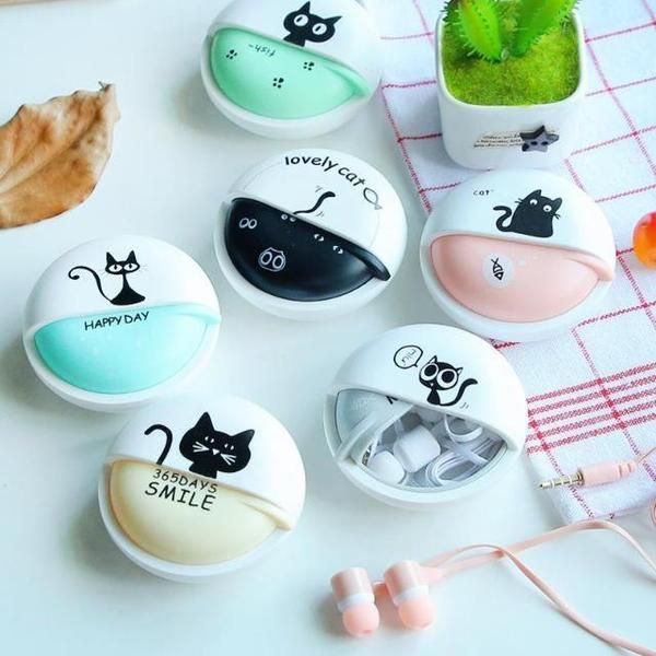 The good news is that with these earphones, you can easily put them in your purse, bag, coat or jeans without entangled them, taking a minimum of space and with a super cute design! #cat #cats #headphones #catlovers