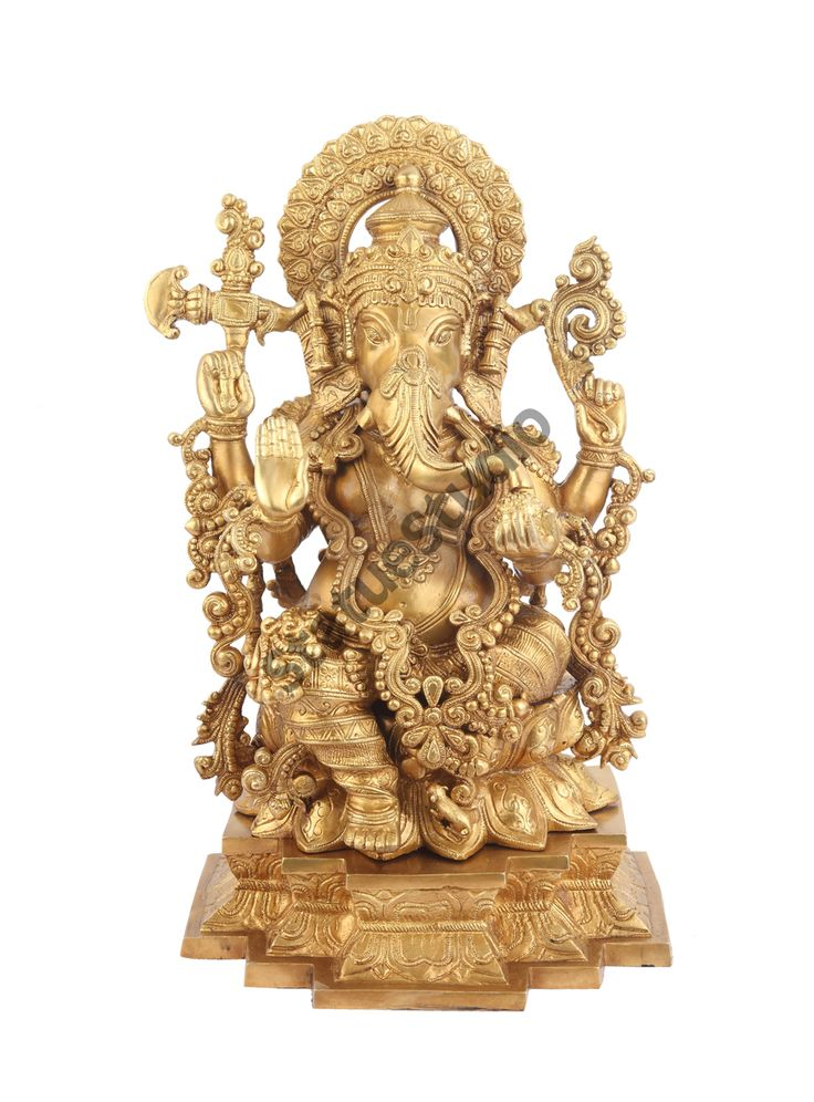 StatueStudio Brass Handmade Large Decorative Ganesha Statue - Vastu - 19 Kg - 22 inch. This beautiful Ganesh or Ganesha statue is a perfect addition to any home or office.