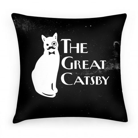 Gifts under $50 |The Great Catsby pillow $26