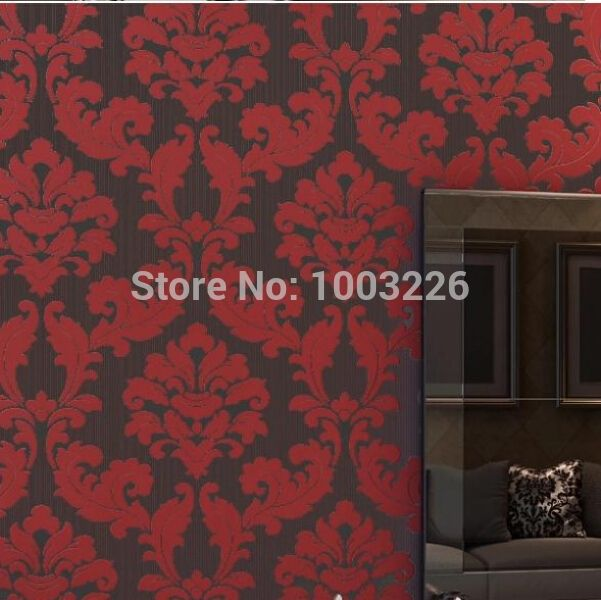 (52.80$)  Know more  - papel de parede 3d wallpaper Romantic Background Wallpaper for Living Room Wall paper Floral Wallcovering Roll Bedroom Wallpaper