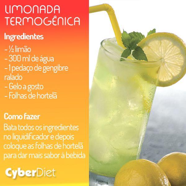 Limonada termogênica! Aposte no suco de limão com gengibre e queime as calorias!   Gostou da dica? Veja outras combinações que vão te ajudar a emagrecer aqui http://maisequilibrio.com.br/nutricao/bebidas-que-emagrecem-2-1-1-780.html