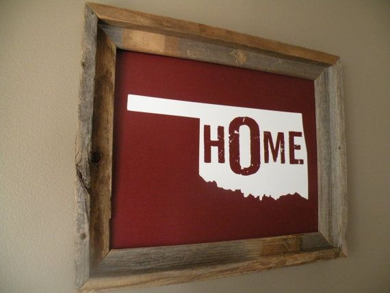 Oklahoma Home Print by fortheloveofmaps on Etsy, $22.00