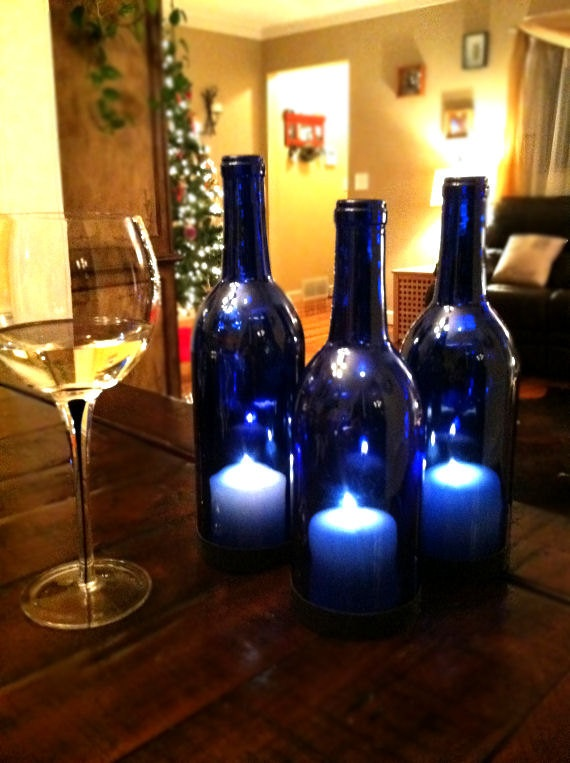 1000 ideas about wine bottle lanterns on pinterest wine for How to cut the bottom off a wine bottle easily