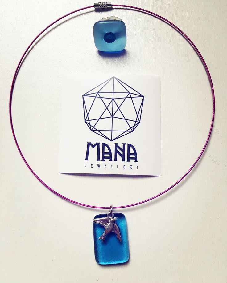 MANA jewelry blue bird pendant and ring