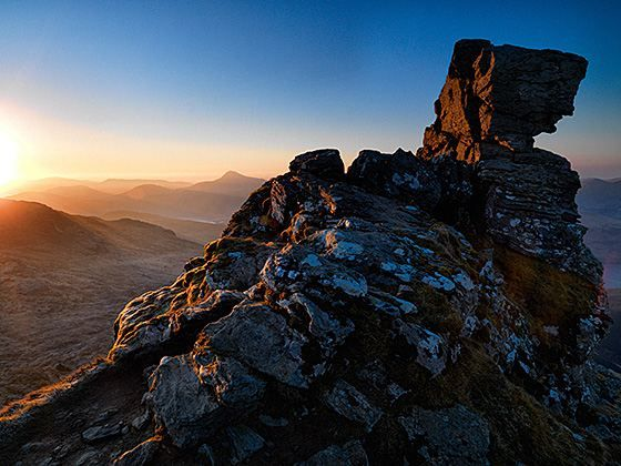 Sunrise on Ben Lomond. Image taken on a Hasselblad H3DII-50 camera.
