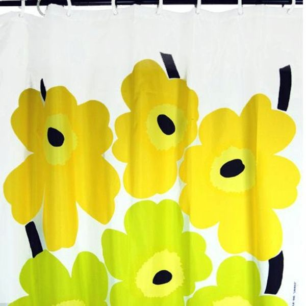Marimekko shower curtain - I'm sure it's probably too much for my little space, but I DO have a crush on it...