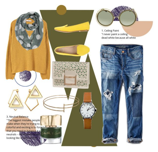 """""""Geometry"""" by kharismabelle on Polyvore featuring ferm LIVING, MANGO, American Eagle Outfitters, Roger Vivier, SANTA CLARA Milano, Dutch Basics, Chloé, Smith & Cult and Mateo"""